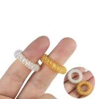 10/1pcs Finger Ring Toy Stress Relief Sensory Spring Fingers Rings Autism Anti Toy Stress Kids Finger Acupressure Message Ring