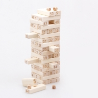 51 Pcs/set Quality Beech Wooden Toys Tower Wood Building Blocks Jenga  Domino Game toy Kids Gift Developmental Toys