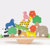 Baby Toys Cute Forest Animal Seesaw Building Blocks Wooden Balance Wood Toys For Children Creative Assembling Educational Toys