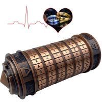 Da Vinci Code Lock Toys Metal Cryptex Locks Retro Wedding Gifts Valentine's Day Gift Letter Password Escape Chamber Props