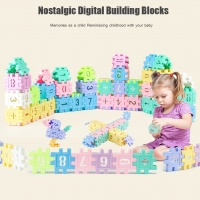 Large Retro Geometric Digital Building Blocks Educational Toys 55 Capsules Building Toy Plastic Educational Toys For Kids new