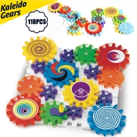 Kaleido Gears Building Set with Mosaic Mushroom Nails Construction Kit,Kaleidoscope Gear Combination Kit Educational toys