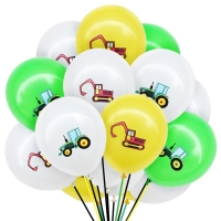 10Pcs Construction Vehicle Excavator Latex Air Balloons Birthday Party Christmas New Year Decorations Kids Toys for Children Fun