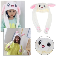 Novelty Magic Rabbit Hat With Moving Ear Plush Toy Gift Kids Toy Party Photo-m20
