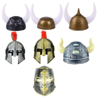 Holiday Ball Hat Props Toys Medieval Knight Warrior Helmet Hat Toy Cosplay Personality Dress Up Toy Kids Gift Knight Essential