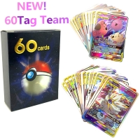60pcs/lot New Pokemones Card All  Tag Team Card GX MEGA Game Battle trading Cards for kids