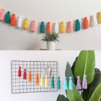 2M Baby Room Decoration DIY Macaron Color Tassel Decor Banner Decoration Bedding Bumpers Party Flags Kids Room Decor