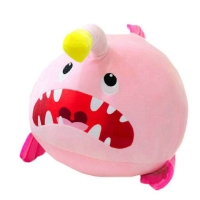 Monsters Fish Plush toy with Fangs Pink And blue Sea Fish Stuffed Animals Doll Toys for Children Soft Hug Pillow for Her Kids