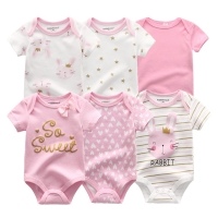 2021 Newest 6PCS/lot Baby Girl Clothe Roupa de bebes Baby Boy Clothes Unicorn Baby Clothing Sets Rompers Newborn Cotton 0-12M
