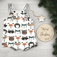 0-24M Summer Newborn Baby Girl Boys Strappy Romper Jumpsuit Bodysuit Sleeveless Clothes Cartoon Animals Print Sunsuit