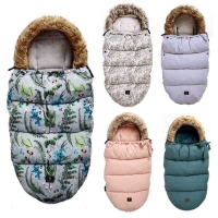 Top Brand Baby Stroller Sleeping Bag Winter Warm Sleepsack Windproof For Infant Wheelchair Envelopes For Footmuff