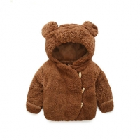 3M-2Y Winter Boys Hooded Jacket Bear Thicken Cute Baby Girls Coats Polar Fleece Baby Clothing girls Snow Coats Spring