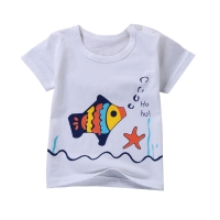 [Unini-yun]2017 new children clothing kids t shirts baby clothes boys spring autumn fashion character style Short sleeve tshirts