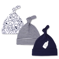 3pcs/lot Baby Hats 100% cotton Printed Baby Hats & Caps For 0-6 Months Newborn Baby Accessories Dropshipping KF268