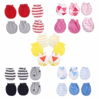 3Pairs Fashion Baby Anti Scratching Gloves Newborn Protection Face Cotton Scratch Mittens