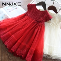 Girls Dresses 2020 Fashion Girl Dress Lace Floral Design Baby Girls Dress Kids Dresses For Girls Casual Wear Children Clothing
