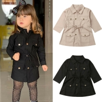 2020 Fashion Infant Baby Girls Boys Kids Jacket Coat Solid Single Breasted Jacket Autumn Winter Warm Children Tops 2-7Y
