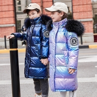 -30 degrees winter down jacket girls clothes 2019 Children Clothing kids boys outerwear coats parka real fur waterproof snowsuit