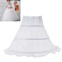 White Tulle Puffy Skirt Little Girl Wedding Accessories Petticoat Underskirt Baby Girl Tutu Skirt Children Clothing Kids Clothes