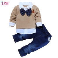 LZH Children Clothing 2020 Autumn Toddler Boys Clothes Outfit Suit Kids Clothes Tracksuit For Boys Clothing Set 2 3 4 5 6 7 Year