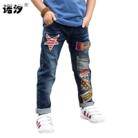 Children jeans boys cotton jeans 3-11 Y teenage Autumn Winter denim trousers baby boys casual pants kids fashion denim pant