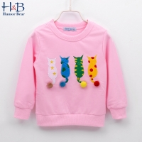 Humor Bear Kids Sweater Autumn Long-sleeve T-shirt  Boy Girl Children Clothes Cartoon Brand Child Coat Outwear Clothing 2-6Y