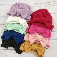 New spring  Baby Hat for Girls Turban Bow Newborn Baby Photography Props Toddler Beanie Cotton Soft  Hat Cap