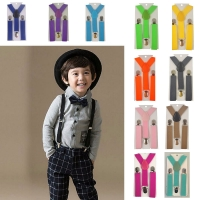 Soild Color Children Belt  Baby Boys Girls Suspenders Clip-on Y-Back Braces Elastic Kids Adjustable suspenders suspenders