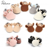2018 Brand New Toddler Newborn Baby Crawling Shoes Boy Girl Lamb Slippers Prewalker Trainers Fur Winter Animal Ears First Walker