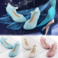 Princess Halloween Shoes Princess Crystal Costume Shoes Baby Girls Cosplay Costume Sandals Party Princess Baby Shoes For Girls