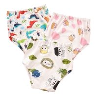 New 6Layers Crotch Baby Diapers Reusable Training Pants  Washable Cloth Nappy Diaper Waterproof Cotton Potty Panties  Underwear