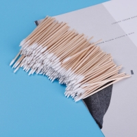 300pcs Cotton Buds Swabs Handle Wooden Handle Tattoo Makeup Microblade Cotton Swab Sticks Makeup Cotton Swabs