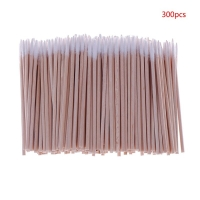 300pcs Useful Wood Handle Cotton Swabs Mini Tip Head Cotton Swab Eyebrow Tattoo Makeup Color Nail Seam Dedicated Dirty Picking