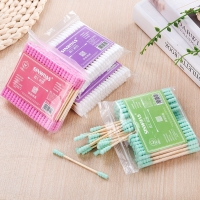100pcs/ Pack Double Head Cotton Swab Health Care Tools Women Makeup Cotton Buds Tip For Medical Wood Sticks  Ears Cleaning