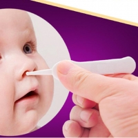 Safety Plastic Baby Children Smooth Point Head Tweezers (clean nose & ear)