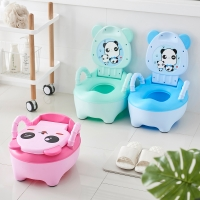 Baby Potty Training Toilet Seat Comfortable Backrest Cartoon Pots Portable Baby Pot For Children Potty Little Girl Toilet Bedpan