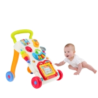 Trolley Wheel Walker for Baby First Step Walking Learning Stroller Music Walker Sit-to-Stand Learning Toddler with Music