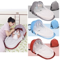 F-B New Baby Bed Travel Sun Protection Mosquito Net With Portable Bassinet Baby Foldable Breathable Infant Sleeping Basket
