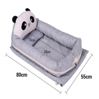 Cartoon Panda Baby Portable Travel Cot ,Newborn Baby Carry Cot, Foldable Baby Co-sleeper,Baby travel Carry bed,Baby Nest