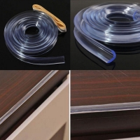 1 M Protection for Furniture Corner Guards Soft Silicone Cover for Furniture Wall Edge Bumper Strip Corner Protector Baby Table