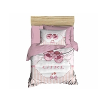 Digital Printed 3d Baby Duvet cover set Girl Powder