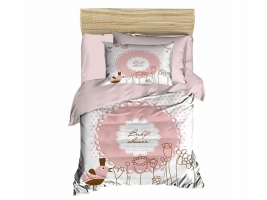 Digital Printed 3d Baby Duvet cover set Bird Cream