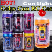 HOT! Original 7 Colors Coke Can RC Car Radio Remote Control Car Micro Racing Car Toy 4pcs Road Blocks Kid's Toys Gifts