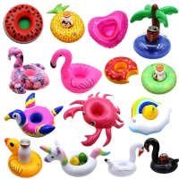 Inflatable Small Umbrella Aqua Floating Beverage Cup Holder Seat Holder Phone Seat Toy Swimming Pool Posing Props Inflatable Toy