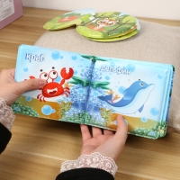New Baby Bath Book Russian language Learning Educational Floating waterproof Book with BB Whistle Bathroom Bathing Toys