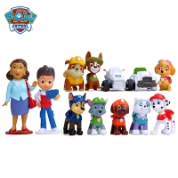 12Pcs/set Paw patrol Rescue Dog Toy Ryder Everest Tracker Anime Action Figure Model Cake Decoration Toy Child Birthday Xmas Gift