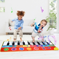 148x60CM Electronic Multifunction Music Piano Baby Play Mat 8 Instrument Combinations Musical Mat Education Toys Children Kids }