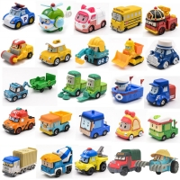 25 Style Robocar Poli Korea Anime Cartoon Action Figures Car Toys Robocar Poli Anba Metal Car ModelToys  For Children Gifts