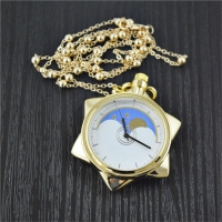 Anime Sailor Moon 20th Anniversary Crystal Star Model Toy Pocket Gold Pocket Watch Necklace Metal Pendant Cosplay Jewelry Gift
