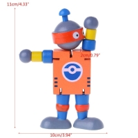 New 6 Styles Cute Wooden Robot Block Toys Baby Action Figures Cute Model Toy